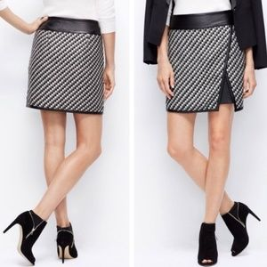 Ann Taylor wrap skirt with faux leather